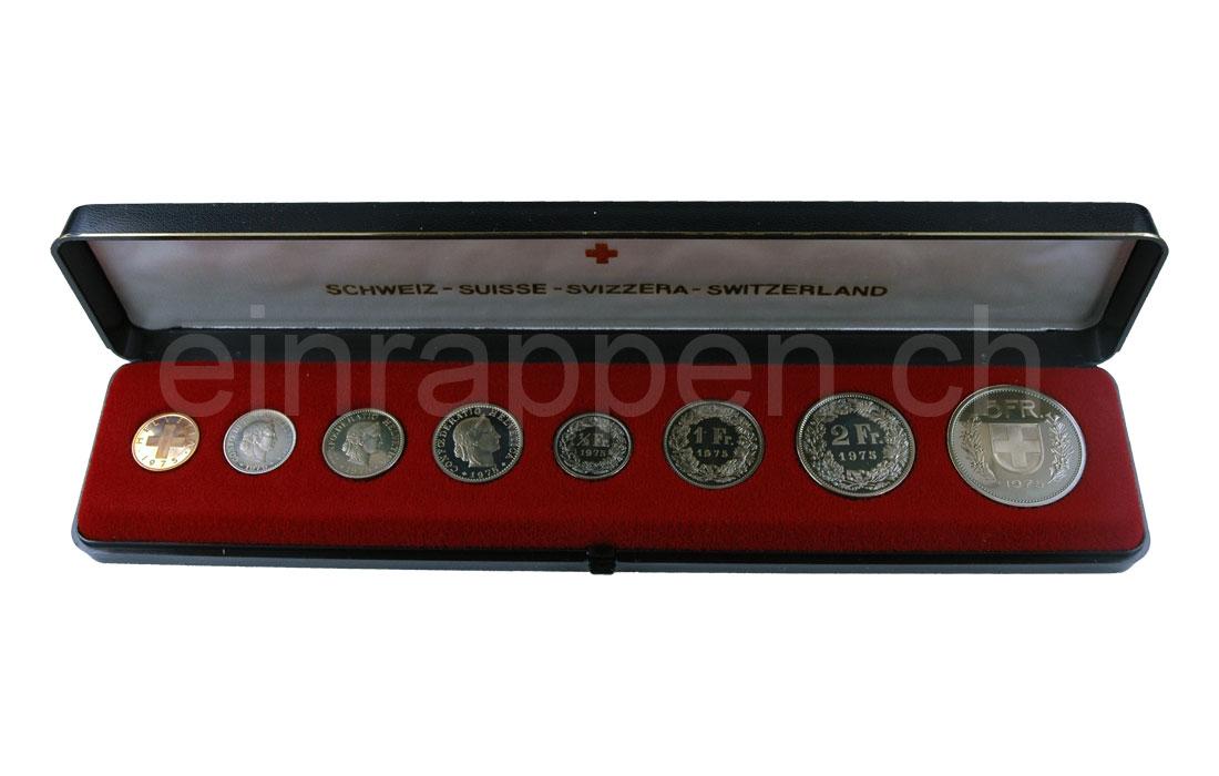 Schweizer Geld Johannes Müller Münzen Sätze Polierte Platte