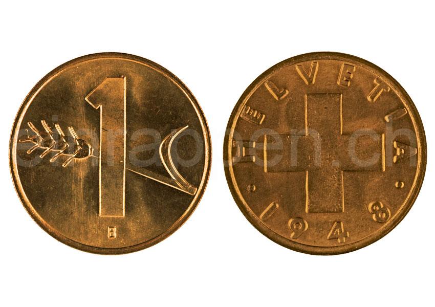 Schweizer Geld Johannes M 252 Ller Bundesm 252 Nzen 1 Rappen