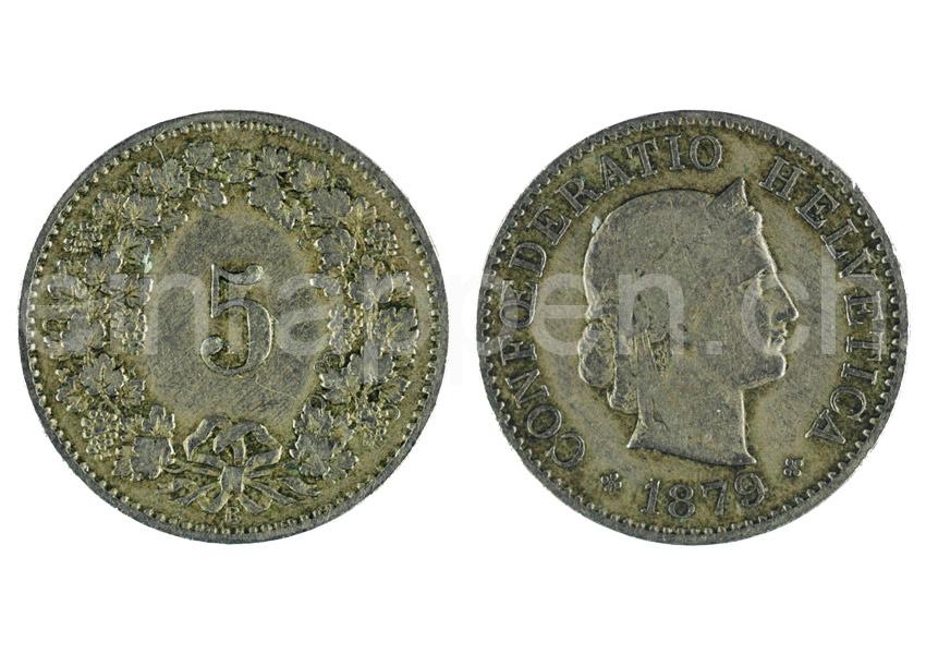 Schweizer Geld Johannes Müller Bundesmünzen 5 Rappen