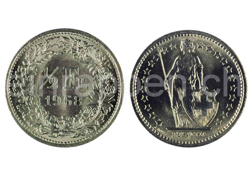 swiss money johannes m ller federal coins 1 2 franc. Black Bedroom Furniture Sets. Home Design Ideas