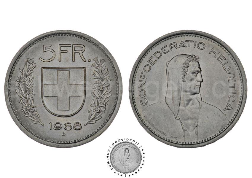 Schweizer Geld Johannes Müller Bundesmünzen 5 Franken
