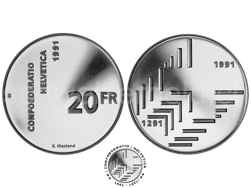 Monnaie Suisse Johannes Muller Pieces Commemoratives 20 Francs