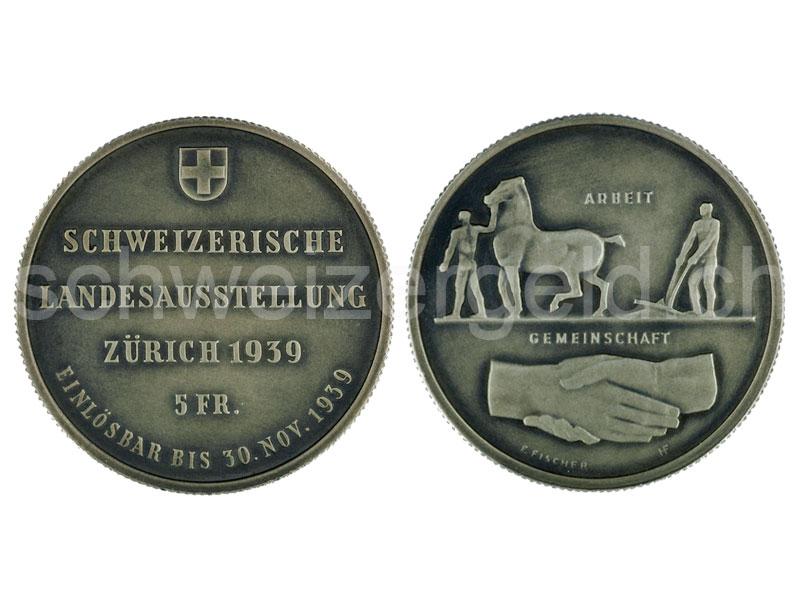 Schweizer Geld Johannes Müller Gedenkmünzen 5 Franken Silber
