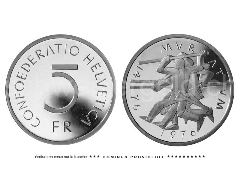 monnaie suisse johannes m ller pi ces comm moratives 5 francs cu ni. Black Bedroom Furniture Sets. Home Design Ideas