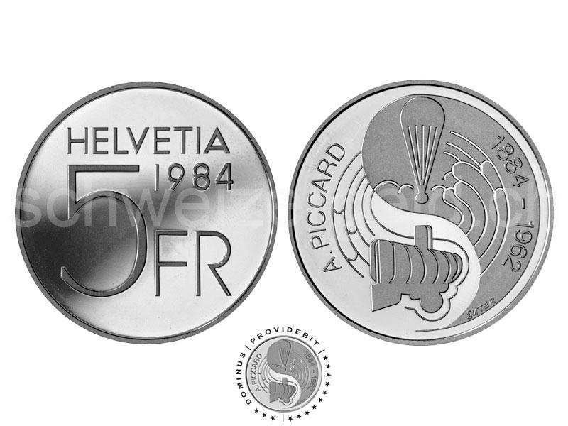 Monnaie Suisse Johannes Muller Pieces Commemoratives 5 Francs