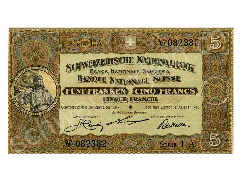 Schweizer Geld Johannes Müller Banknoten Aktien Snb 2