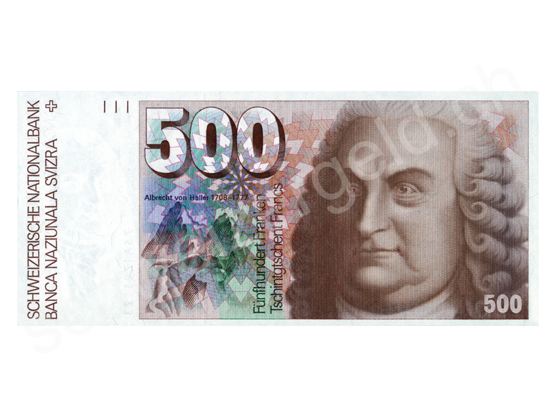 schweizer geld johannes m ller banknoten aktien snb 6 emission. Black Bedroom Furniture Sets. Home Design Ideas