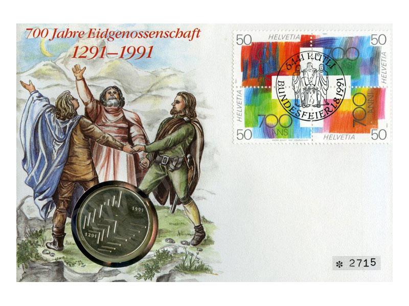 Schweizer Geld Johannes Müller Numis Briefe 20 Franken Silber