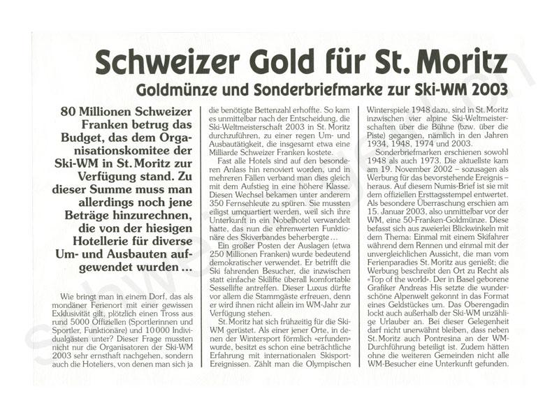 Schweizer Geld Johannes Müller Numis Briefe 50 Franken Gold