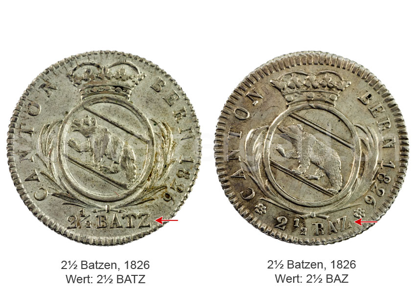 Schweizer Geld Johannes Müller Kantonsmünzen Bern