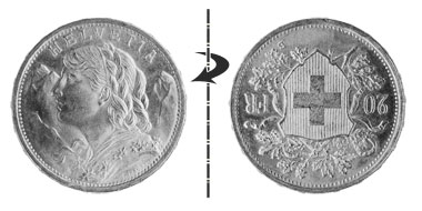 20 francs 1949, Normal position